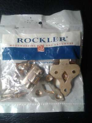 1 Pr Solid Brass Ice Box Hinges NWT J7