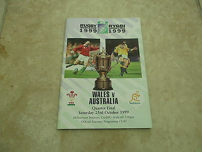 Wales v Australia 1999 World Cup Quarter Final Programme.