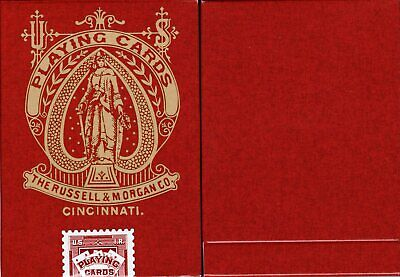 Faro Red Vintage Playing Cards Poker Size Deck USPCC Custom Limited Edition New