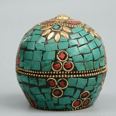 AAA Collectable China Handwork Cloisonne Carved Beautiful Flowers Auspicious Box
