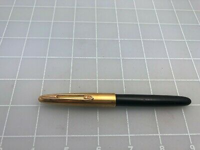 Judd's Black & Gold Vintage Diplomat Fountain Pen w/Fine Nib