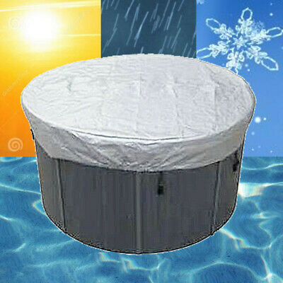 Caliente Bañera Cubierta Redondo Impermeable Anti-uv Protector Spa Dosel Harsh