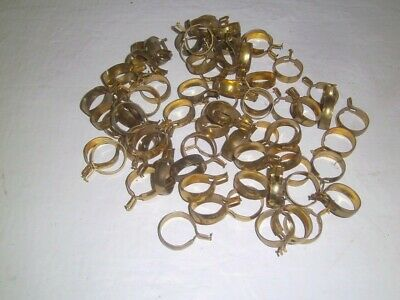 Vintage Curtain Clips Pinch Rings Cafe Brass Plated Lot of 75!