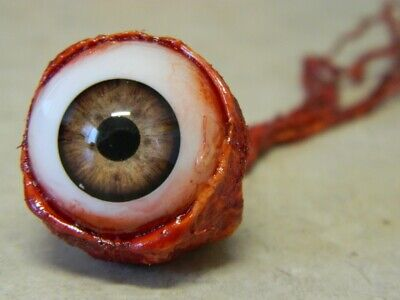 HALLOWEEN HORROR Movie PROP RIPPED OUT EYEBALL Light Brown!