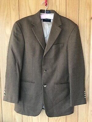 399 Mens Nautica 3 Button Grey Wool Sport Coat Blazer Suit Jacket 38R