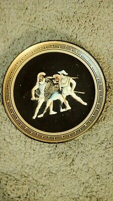 Greek Pottery Mythological Gladiators Wall Plaques 2, Rare Deplections