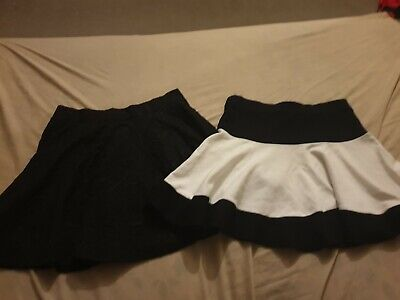 Girls black pleated belted Tammy Girl mini skirt age 13 years BNWT