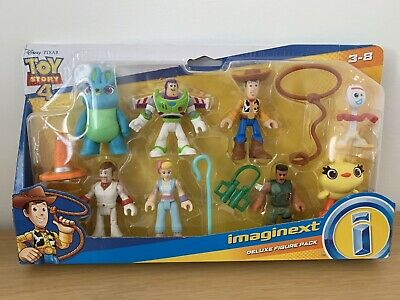 Imaginext Toy Story 4 Deluxe 8 Pack Exclusive Figures  - Brand New Sealed Bnib