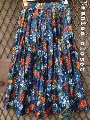 Vintage 50S/60S Gorgeous Flower Skirt Hand Made One Off Small Size So Pretty