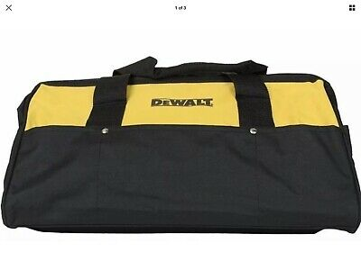 New Extra Large 20 Inch Dewalt Heavy Duty Wide Mouth Tool Bag With 14 Pockets
