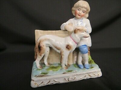 Victorian Conta & Boehme Match Striker:- Girl with large dog
