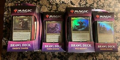 Throne of Eldraine Brawl Deck Set of 4 Sealed MTG IN HAND Same Day Handling