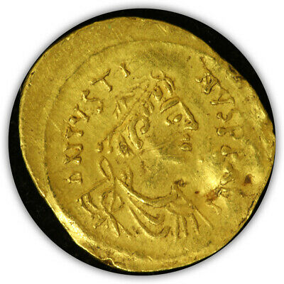 Byzantine Empire Justinian I the Great (527 - 565 AD) AV Tremissis. Ancient Gold