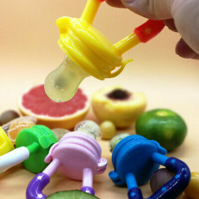 Baby Weaning Feeding Teething Pacifier Dummy Nutrition Fresh Fruit - UK Supplier