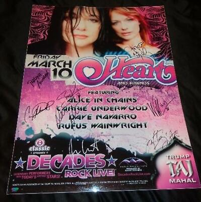 Heart And Friends Poster SIGNED By Nancy Wilson/Carrie Underwood/Dave Navarro