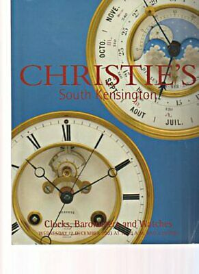 Christies 2003 Clocks, Barometers and Watches