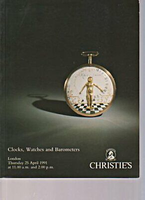 Christies 1991 Clocks, Watches and Barometers