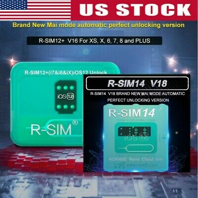 R-SIM14 V18/12+V16 Nano Unlock RSIM Cards for iPhone MAX/XR/8/7/6 iOS12 11 Lot