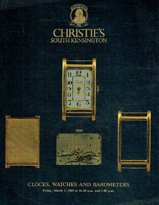 Christies March 1989 Clocks, Watches & Barometers