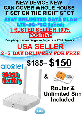 AT&T 4G, 5G LTE UNLIMITED WHOLE HOME WIFI - $34.99 Monthly