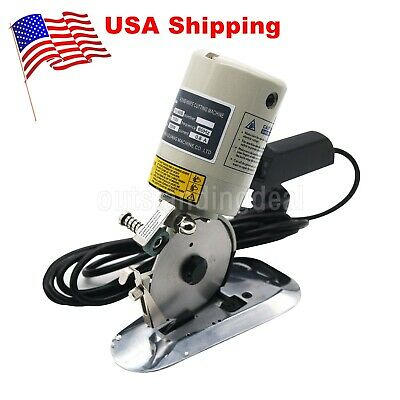 "3.5"" Round Electric Fabric Cutting Machine Cloth Cutter Fabric Rotary Scissor US"