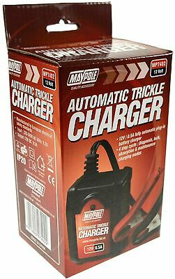 Automatic Intelligent Smart Trickle 12 V Volt Battery Charger Maypole MP7402