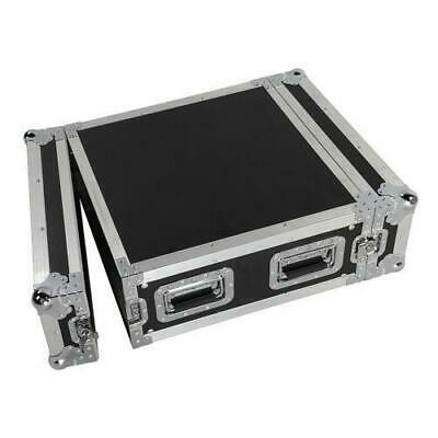 "19"" 4U Single Layer Double Door DJ Equipment Cabinet Black & Silver"