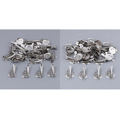 60x Extra Large Dual Brooch Pin Back Base Hair Clip 25/20mm DIY Finding