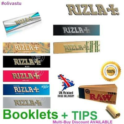 King Size Slim RIZLA Rolling Papers with Raw Roach Filter Tips Booklets Packs