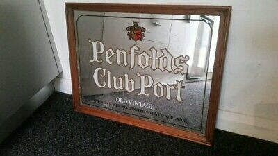 Rare Penfolds Club Port Bar Mirror Alcohol Advertising