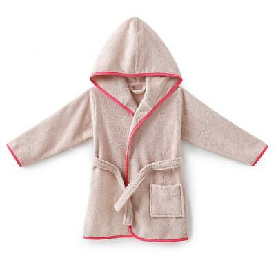 Boys & Girls Hooded Baby/Child Robe In Organic Cotton Towelling 350100714