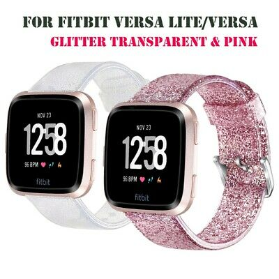 Replacement sport Silicone Glitter Strap Watch Band For Fitbit Versa Lite/Versa