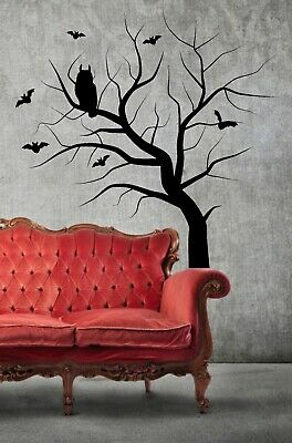 Winter Forest Bare Tree Flowers And Trees Wall Stickers Home Decor Art  WS-32568