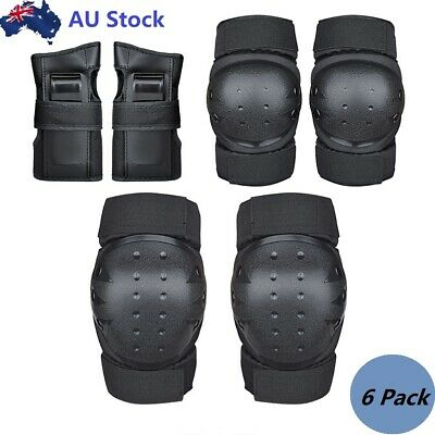 AU Elbow Wrist Knee Pads Sports Skating Scooter Safety Protective Gear Guard NEW