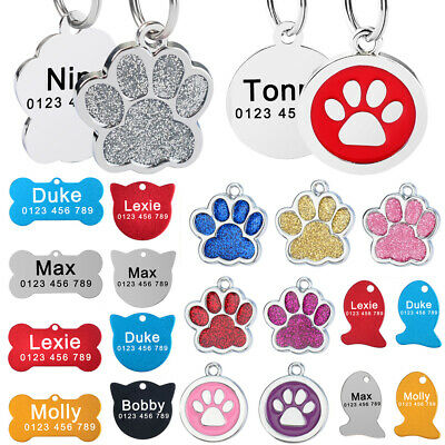 Personalized Dog Tags Engraved Kitten Cat Puppy Pet ID Name Collar Tag Dogtags