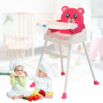 Adjustable Baby Highchair Durable Child Eating Feeding Table Seat High Chair UK