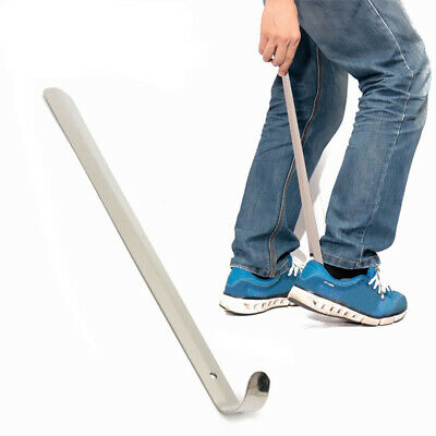 Stainless Professional Metal Long Handle Shoe Horn Lifter Shoehorn