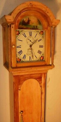 "Antique  Pine ."" Gloucester  ""  Fishing Dial Grandfather / Longcase Clock"