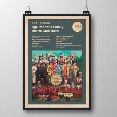 The Beatles Sgt Peppers 1967 Art Print album cover