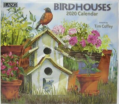 2020 Lang Bird Houses Wall Calendar by Tim Coffey Fits Timber Frame