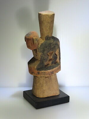 pre columbian wood scepter ritual offering animal piece deity figure very rar
