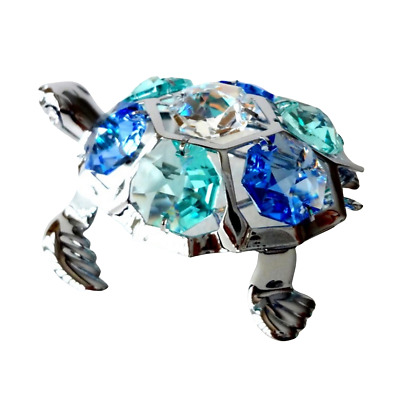 Crystal Crystocraft Turtle Ornament With Swarovski Elements (with Box)