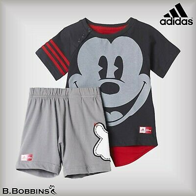 🔥 Adidas Baby Boys Disney Mickey Mouse Outfit Age 0-3-6-9-12-18-24 Months