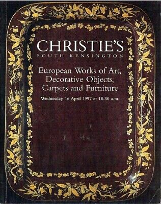 Christies April 1997 European WOA, Decorative Objects, Carpets and Furniture