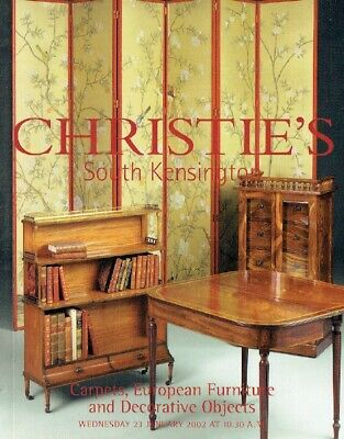 Christies January 2002 Carpets, European Furniture & Decorative Objects