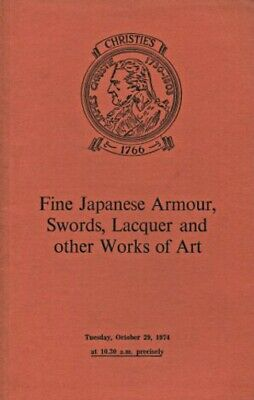 Christies 1974 Fine Japanese Armour, Swords, Lacquer