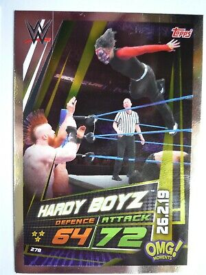 Topps Wwe Slam Attax Universe Omg Hardy Boys 26.2.19 Card Comb Post