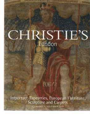 Christies 2001 Important Tapestries, European Furniture