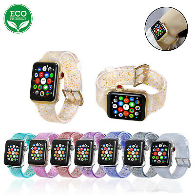 Eco Sports Band Glitter Strap for Apple Watch iWatch Series 1/2/3/4/5 38-44mm