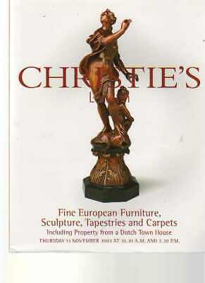 Christies 2003 Fine European Furniture , Sculpture & Tapestries